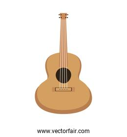 guitar musical instrument isolated icon