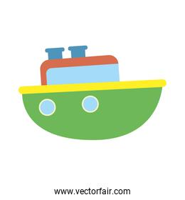 cute ship baby toy isolated icon