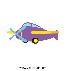 little airplane baby toy isolated icon