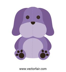 cute dog baby toy isolated icon