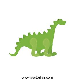 cute baby dinosaur toy isolated icon