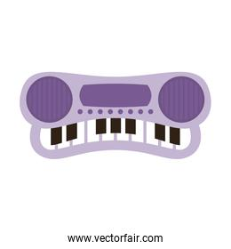 cute piano baby toy isolated icon
