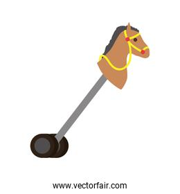 cute stick horse with wheels baby toy