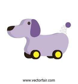 cute doggy with wheels baby toy