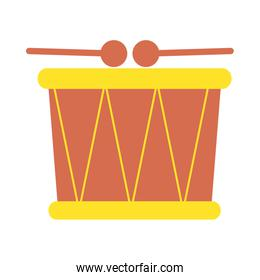 cute drum baby toy isolated icon