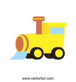 little train baby toy isolated icon