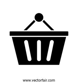 shopping basket commerce isolated icon