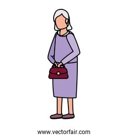 cute grandmother avatar character icon