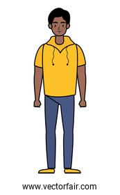 afro young man avatar character icon