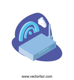 wireless router with cloud information