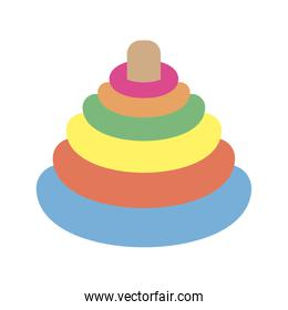 rings colors pyramid toy icon
