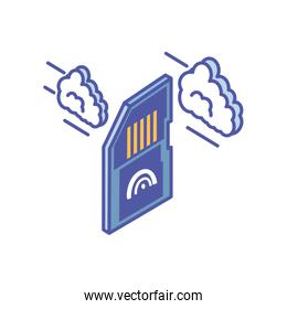 micro sd card with with cloud information
