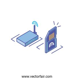 wireless router with micro sd card