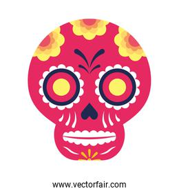 traditional mexican skull head icon