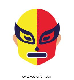 mexican mask of fighter fill style icon