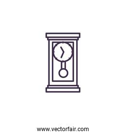 Isolated wood clock icon vector design