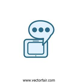 Isolated communication bubble icon line vector design