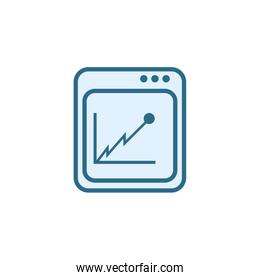 Isolated workflow icon line vector design
