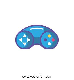 videogames control on white background
