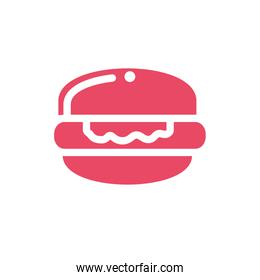 delicious and delicious hamburger on white background