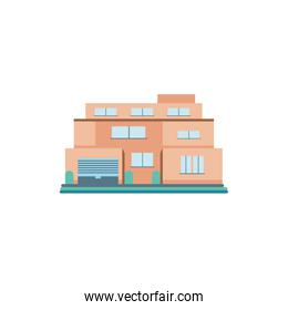 cute building of house on white background