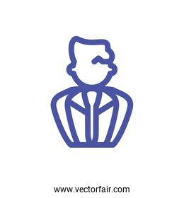 faceless businessman silhouette on white background