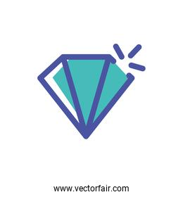 diamond silhouette on white background