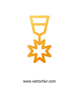 military honors medal with ribbon on white background