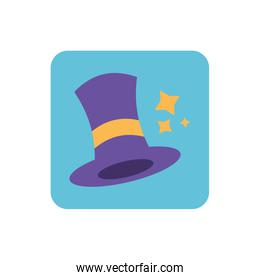 wizard hat with on white background