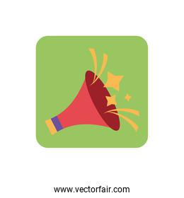 cute megaphone with white background
