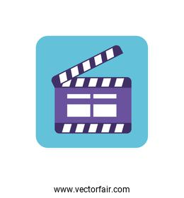 cinema clapperboard isolated icon