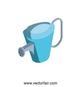 watering can with water sprinkler on white background