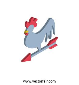 weather vane on white background