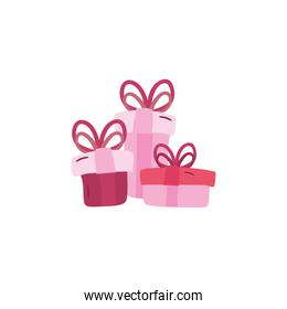 Gifts with bowties vector design