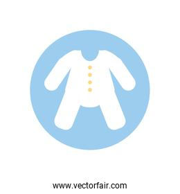 Isolated baby cloth vector design