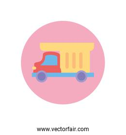 Isolated truck toy vector design