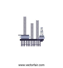 Isolated oil industry refinery vector design