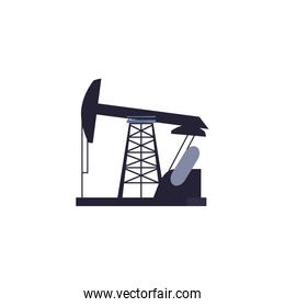 Isolated oil industry pump vector design