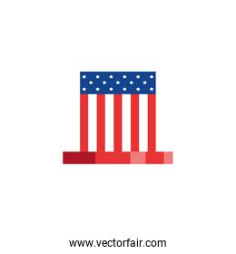 Isolated usa flag hat vector design