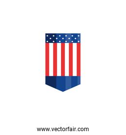 Isolated usa flag banner vector design