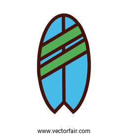 sport surfboard equipment line and fill icon