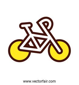 sport bicycle equipment line and fill icon