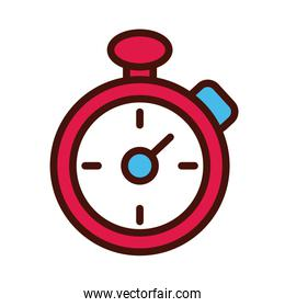 timer chronometer line and fille icon