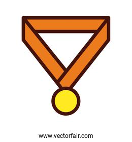 medal winner award line and fill icon