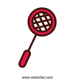 sport badminton racket line and fill icon