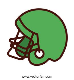 sport american football helmet line and fill icon