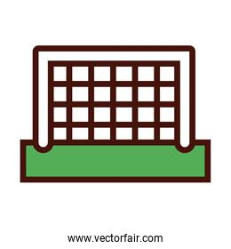 soccer sport arch line and fill icon
