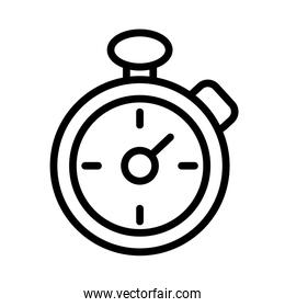 timer chronometer linear and file icon