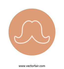 mustache vintage trend hipster block and line