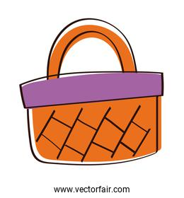 shopping basket hand draw style icon